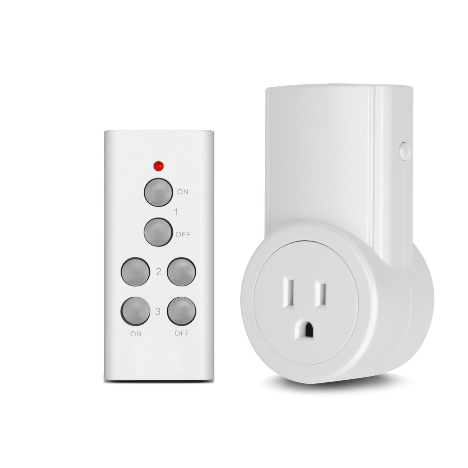 Etekcity Remote Control Outlet Wireless Light Switch for Household Appliances, Unlimited Connections, FCC ETL Listed, White (Learning Code, 1Rx-1Tx)