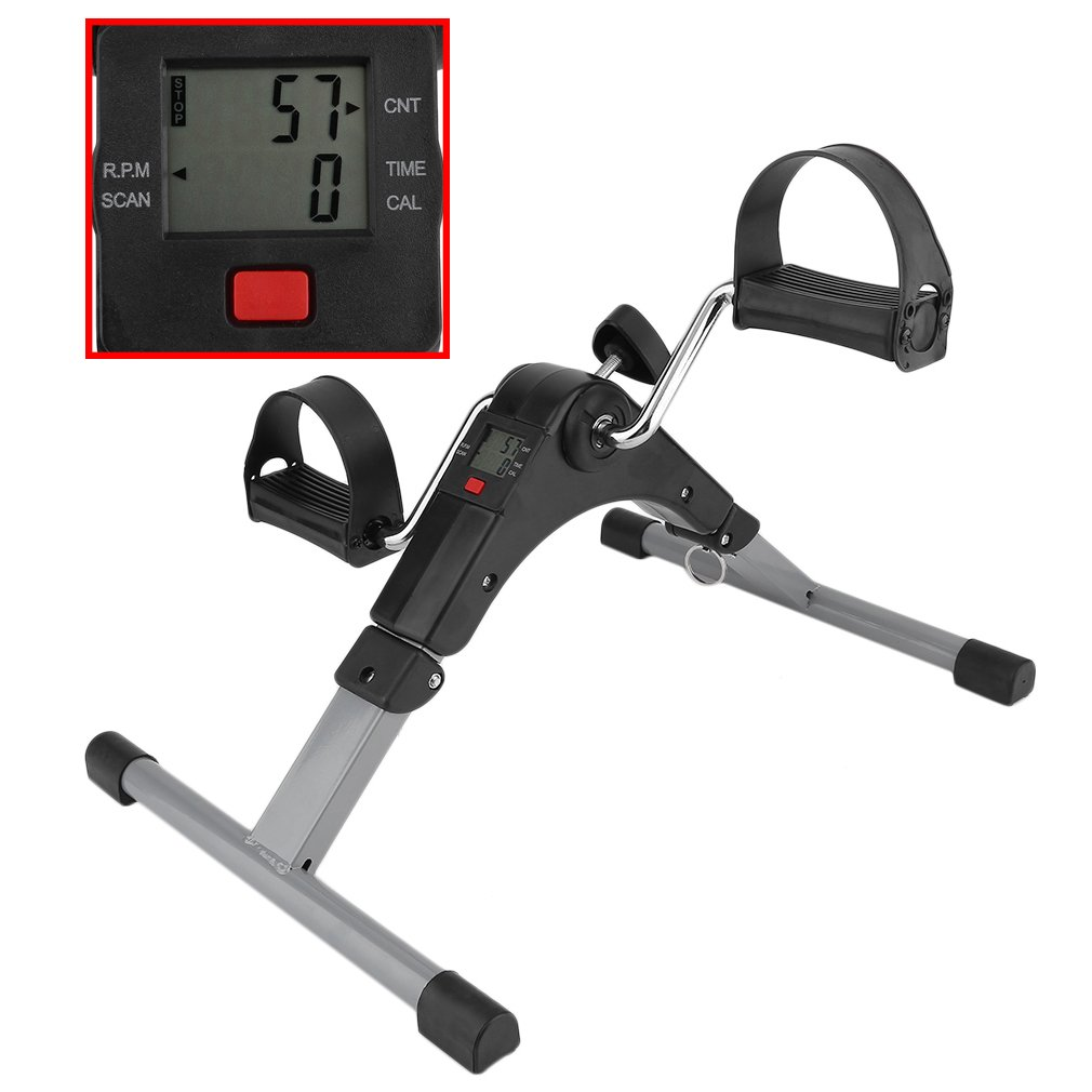 Blackpoolfa Portable Pedal Exerciser by Digital Foldable Deluxe Arm & Leg Exercise Peddler Machine with Electronic LED Display -Fully Assembled No Tools Required