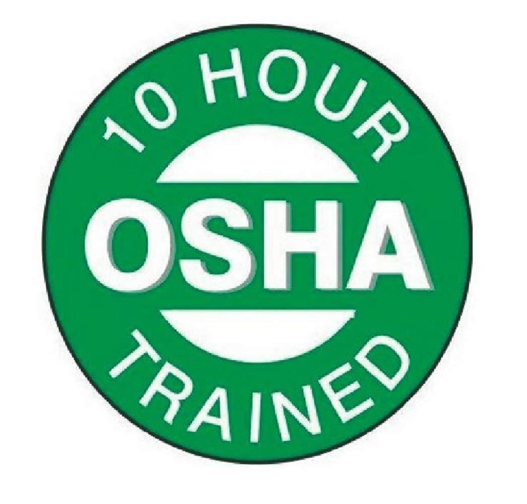 manda_ol 50 Pack 2'' inches 10 Hour OSHA Trained Hard Hat Decal Hardhat Sticker Helmet Label