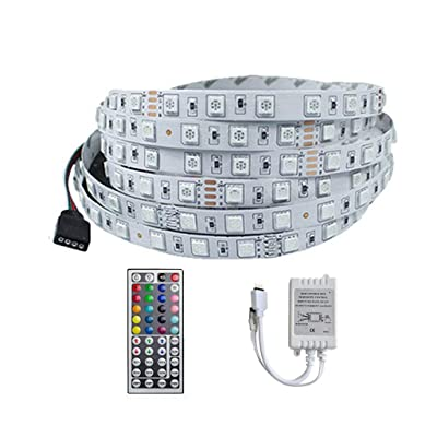 Smoxx LED Strip Lights, 5M RGB 5050LEDs Color Changing Full Kit with 44 Key Remote Control and Power Supply Mood Lighting for Room Bedroom Home Kitchen Indoor Decorations: Toys & Games