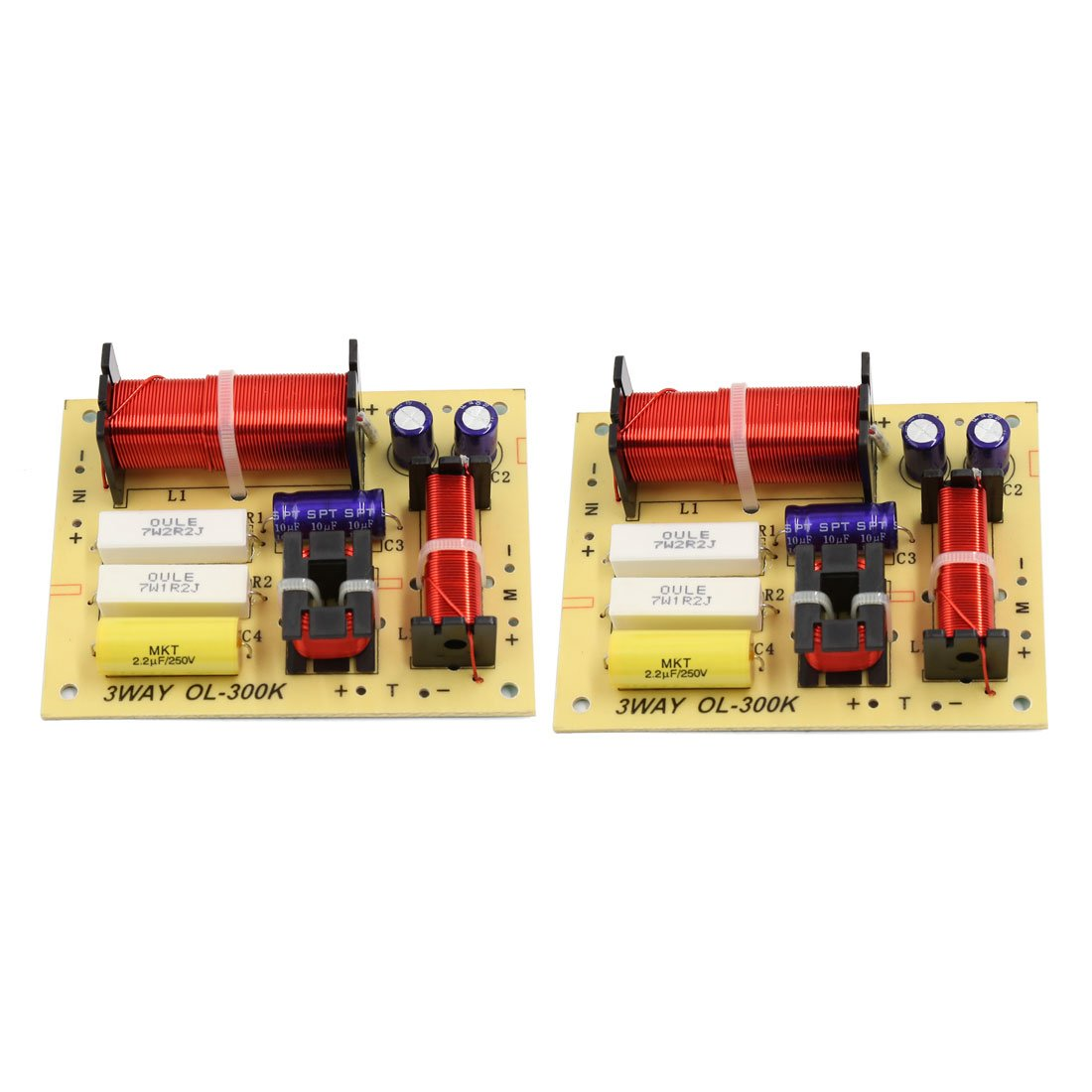 Amazon.com: AOSHIKE 2pcs 3 Way Frequency Divider Crossover KASUN AS ...