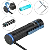Olight S2R II 1150 Lumens USB Magnetic Rechargeable Variable-output Side Switch LED Flashlight, 3200mAh 18650 Battery and Olight Patch