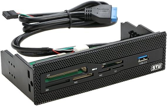 """Imagen deKKmoon STW 5,25 """" Lector Interno de Tarjetas USB 3.0 Cuadro de Instrumentos Multifunción de Medios Panel Frontal del PC Soporte CF XD MS M2 TF"""