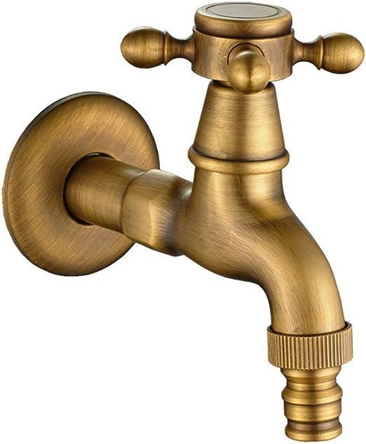 SYW Faucet Grifo de jardín, Grifo de jardín Doble Salida 1/2, Grifo Exterior, Grifos Latón, Baño Mop Lavadora Grifos, Grifos del Fregadero: Amazon.es: Hogar