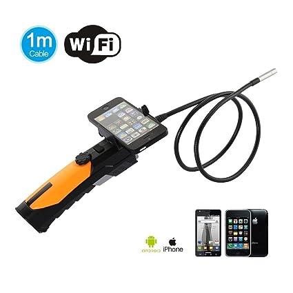 SATKIT Cámara HD Inspección WiFi endoscopio Portátil para iPhone, iPad, Android Smartphones.