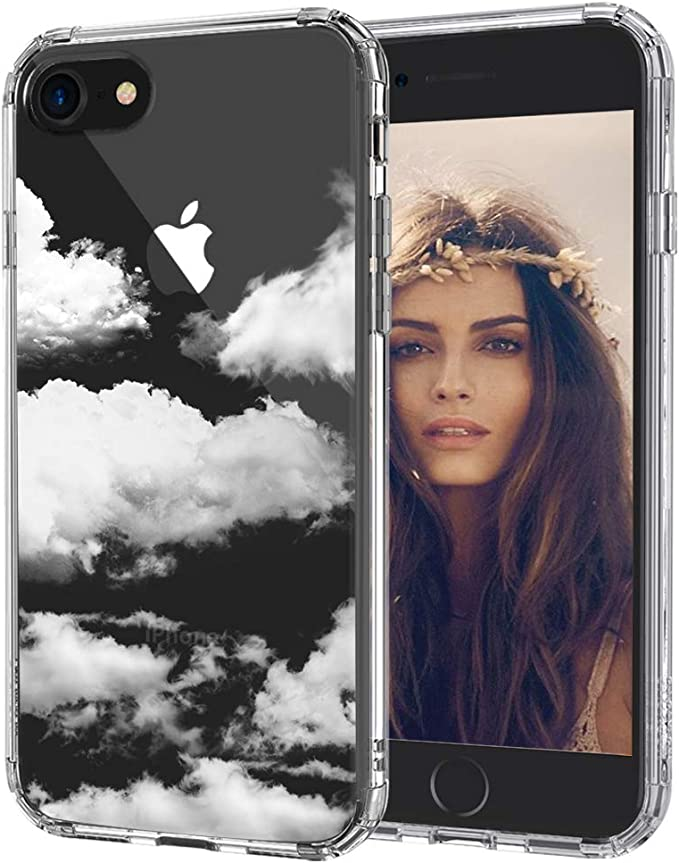 Amazon Com Mosnovo Cloud Pattern Designed For Iphone Se 2020 Case Designed For Iphone 8 Case Designed For Iphone 7 Case Clear Case With Design Tpu Bumper With Protective Hard Case Cover