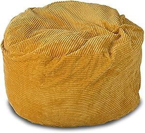 Lounge U0026 Co Corduroy Round Foam Chair, 36 Inch, Gold