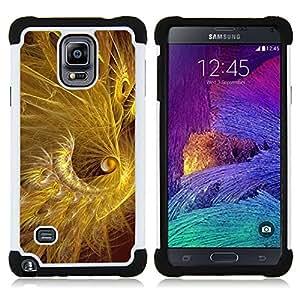 For Samsung Galaxy Note 4 SM-N910 N910 - feather gold golden black shiny Dual Layer caso de Shell HUELGA Impacto pata de cabra con im??genes gr??ficas Steam - Funny Shop -