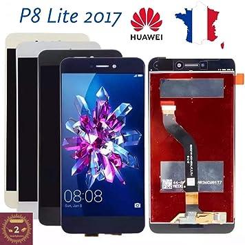 ECRAN LCD + VITRE Tactile pour Huawei P8 Lite 2017 Noir + Outils + Colle B7000