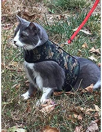 Medium//Large Kitty Holster Cat Harness Gray