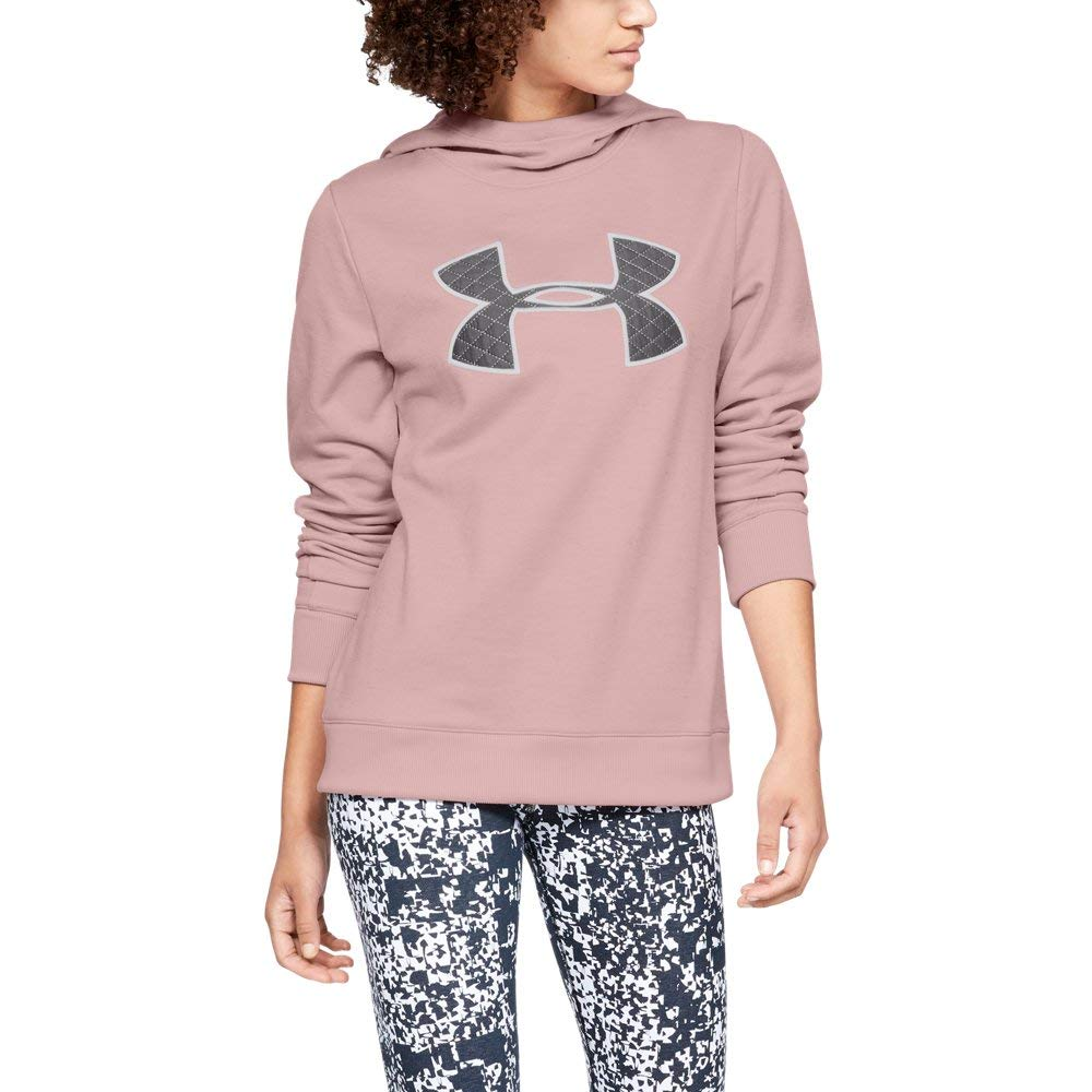 Under Armour Women's Synthetic Fleece Pullover, Flushed Pink (602)/White, Large by Under Armour
