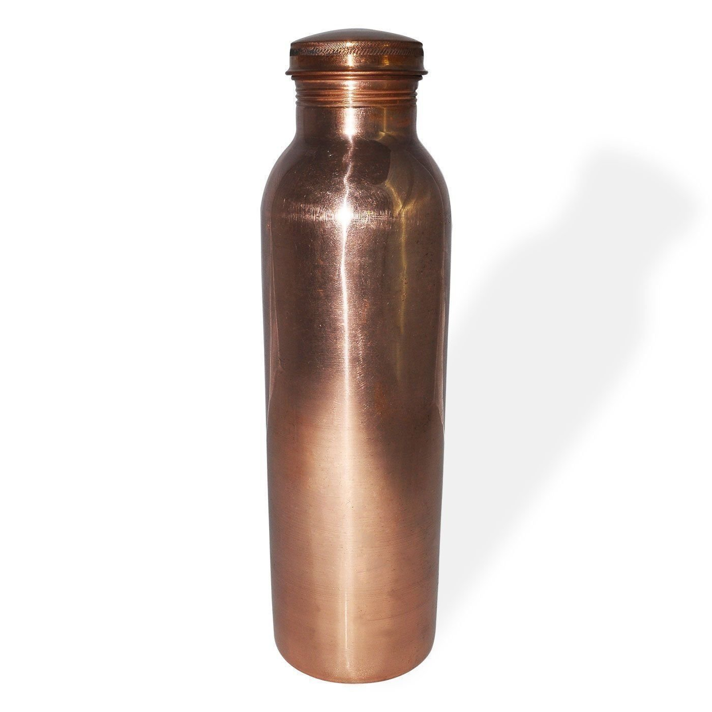 PARIJAT HANDICRAFT Pure Copper Water Bottle Spill Proof Copper Bottle Copper Vessel have Ayurveda Health Benefits Holds 30 Ounce Smooth Finished 8OB-XT6-I06