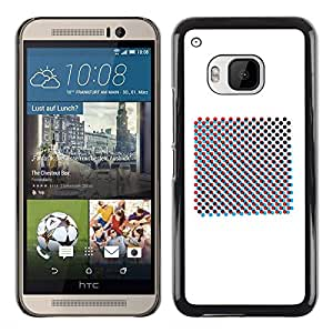 iBinBang / Funda Carcasa Cover Skin Case - Raster Art Print Minimalist White - HTC One M9