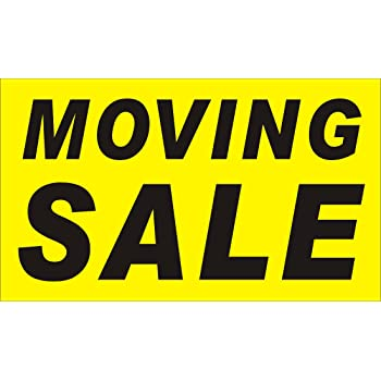 amazon com 3ftx5ft moving sale banner sign office products