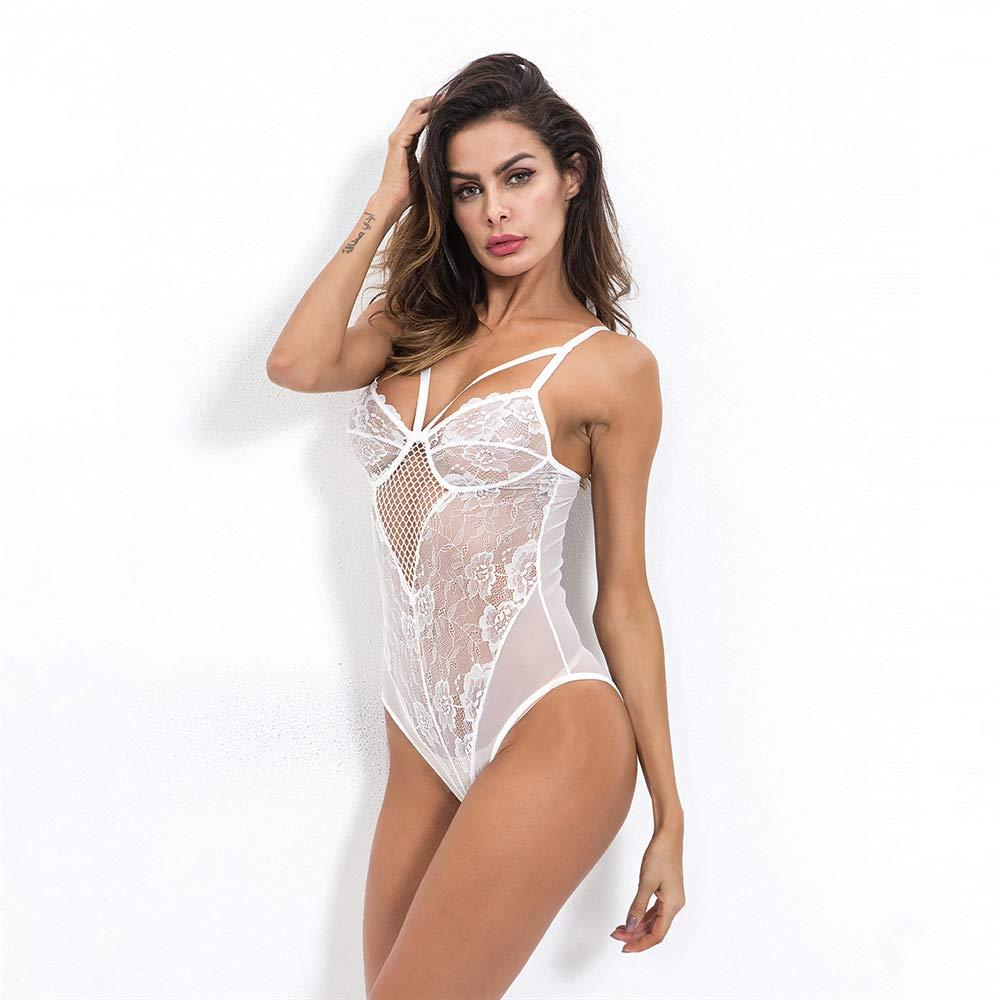 Ropa Erótica Interior Para Mujeres Mujeres Mujeres Sexy Lencería Encaje Bodysuit Ropa Atractiva Erótica Pijama Mujer Body Transparente Conjunto De Lencería,Black,L f40606