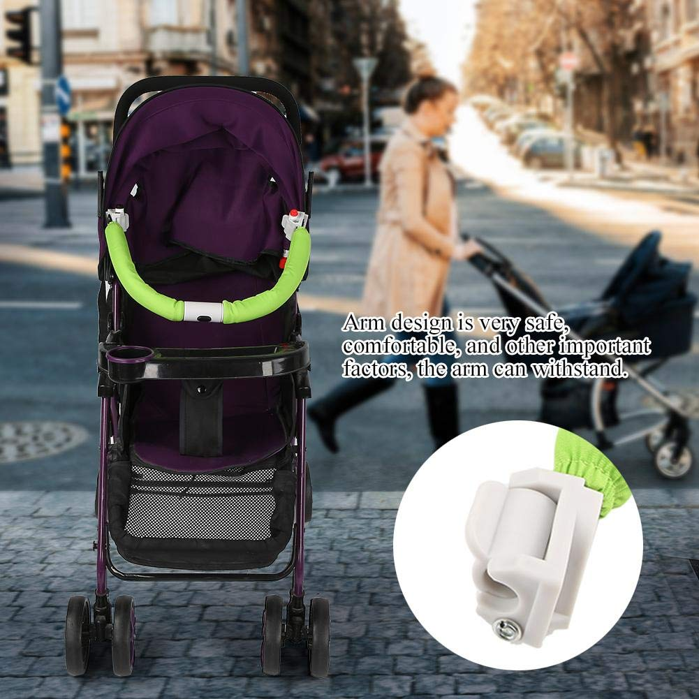 Adjustable Generic Baby Stroller Handle Handlebar Trolley Bumper Grip Handle Bar Safe Armrest Bumper Bar Baby Stroller Accessories Hand Tools Black