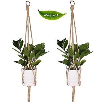 kepoman suspension pour plantes en macram jutecoton et macrame possde 4 pieds support