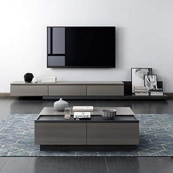 Mueble para TV LGFSG Mesa de Madera y Soporte de Monitor de Mesa Muebles de Sala Mueble de televisión Mesa de Centro Mesa de TV, Azul: Amazon.es: Electrónica