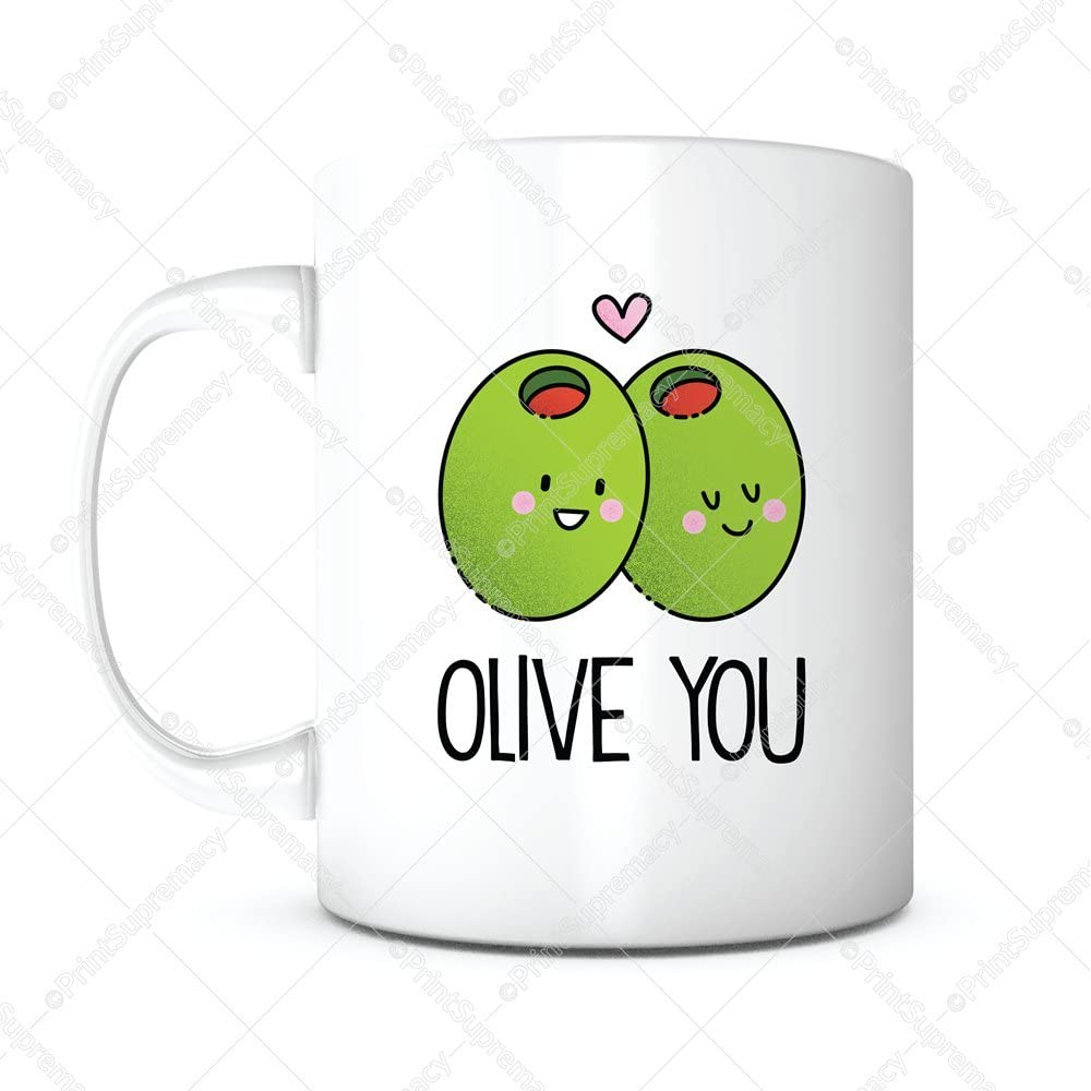 Amazon Com Olive You Morning Coffee Mug Anniversary Gift Romantic Gift Funny Cute Gift Boyfriend Girlfriend Gifts Love Gift Christmas Gift Valentines Day Birthday Gift Mothers Fathers Day Gift Gifts For Mom Dad Kitchen Dining