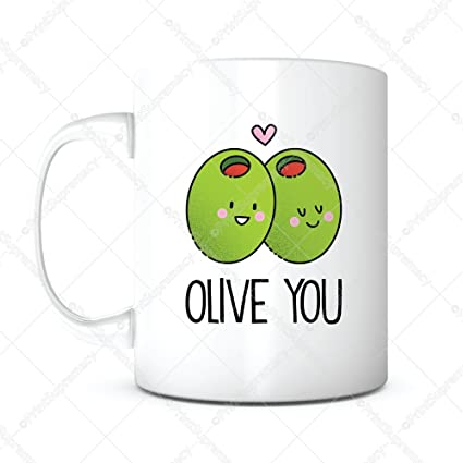 Olive You Morning Coffee MugAnniversary GiftRomantic GiftFunny Cute Gift
