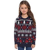 Abollria suéter de Navidad unisex para niños y niñas