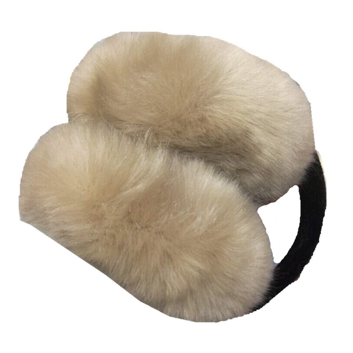 Folding Earmuffs Men Womens Warm Autumn Winter Fox Fur Earmuffs Multicolor