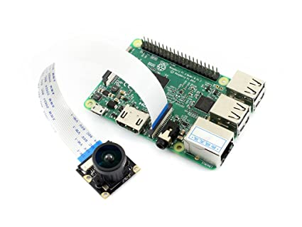 waveshare rpi Camera Module (j) for Raspberry pi 3 2 Model b b+ Zero fisheye Lens 5 mp ov5647 Sensor 222 Degree Field of View Record Development Board Components at amazon