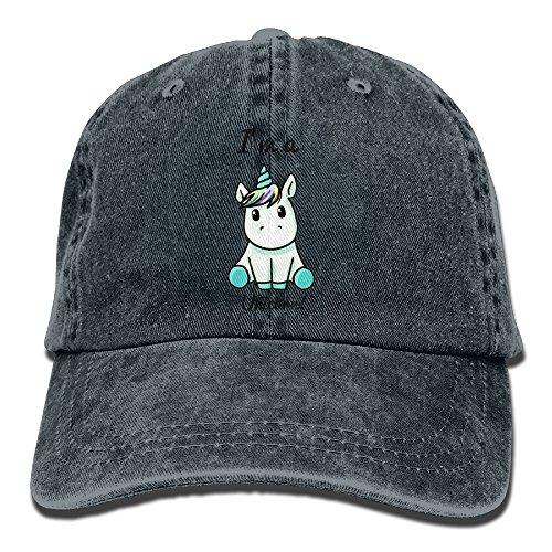 Suaop I Am A Unicorn Unisex Vintage Washed Distressed Cotton Hat Travel Baseball Cap Polo Style Navy