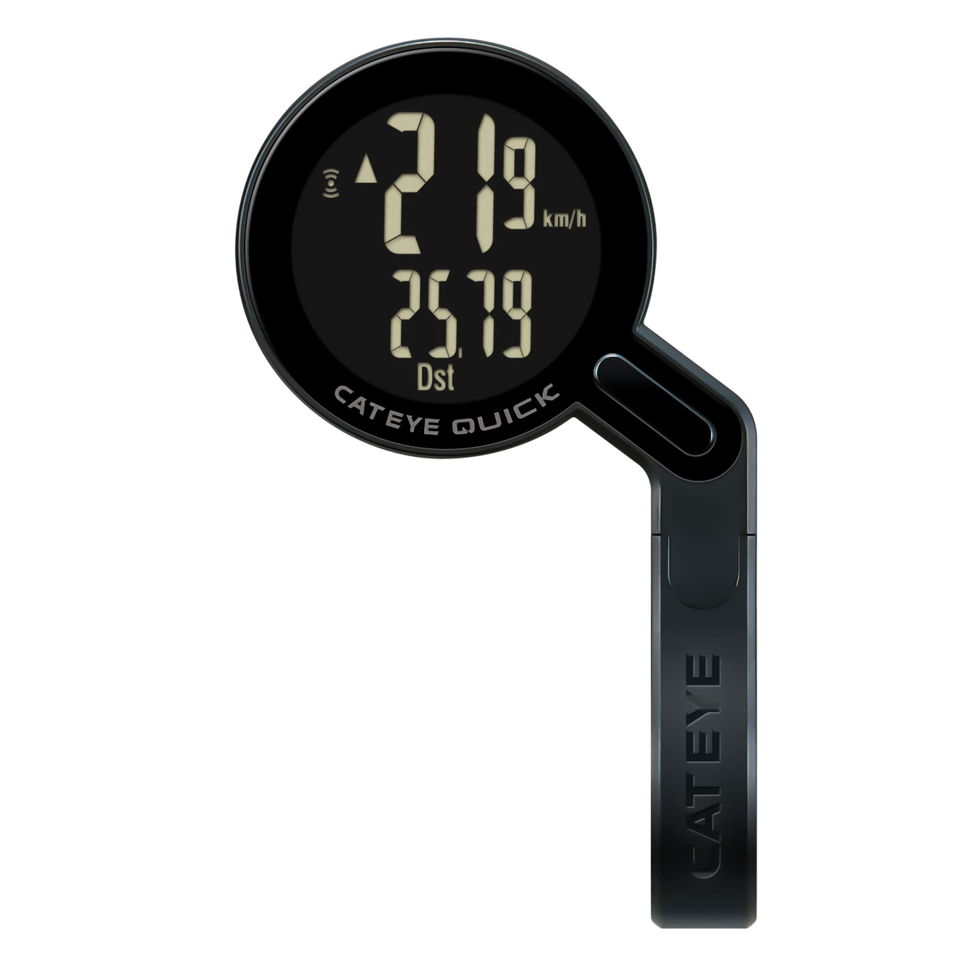 CAT EYE - Quick Bike Computer - Wireless and Waterproof - Odometer and Speedometer - Road Cycling and Commuting