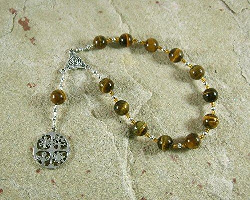 Demeter Pocket Prayer Beads in Tiger Eye: Greek Goddess of Grain, the Harvest, the Seasons, and the Afterlife