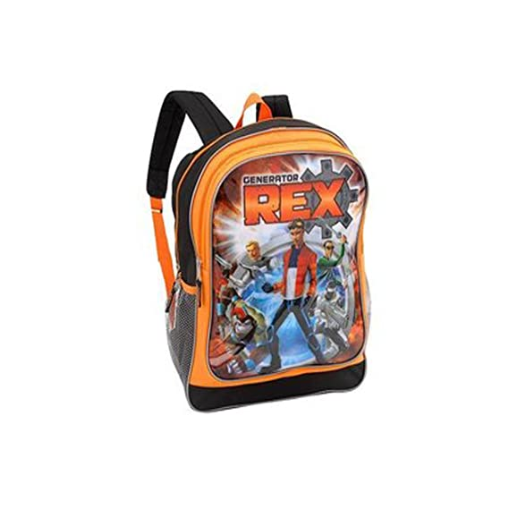 d5a836be5cab Amazon.com  Generator Rex Super Spy Team 16 inch Backpack - Black and Orange   Sports   Outdoors
