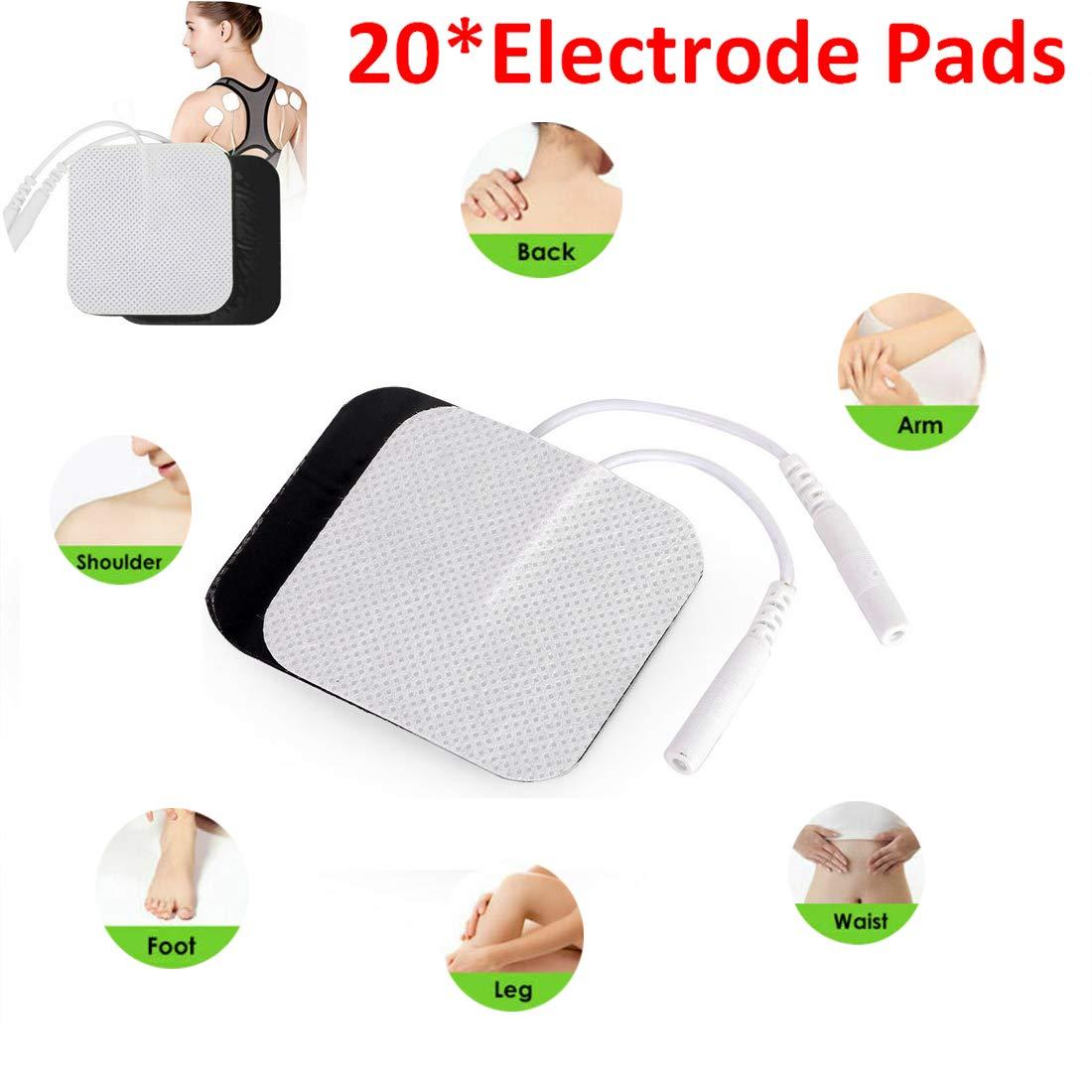 wiederverwendbaren Elektrodenpolstern zur Stimulation der Muskelerm/üdung HITECHLIFE 1 Packung mit 20 selbstklebenden