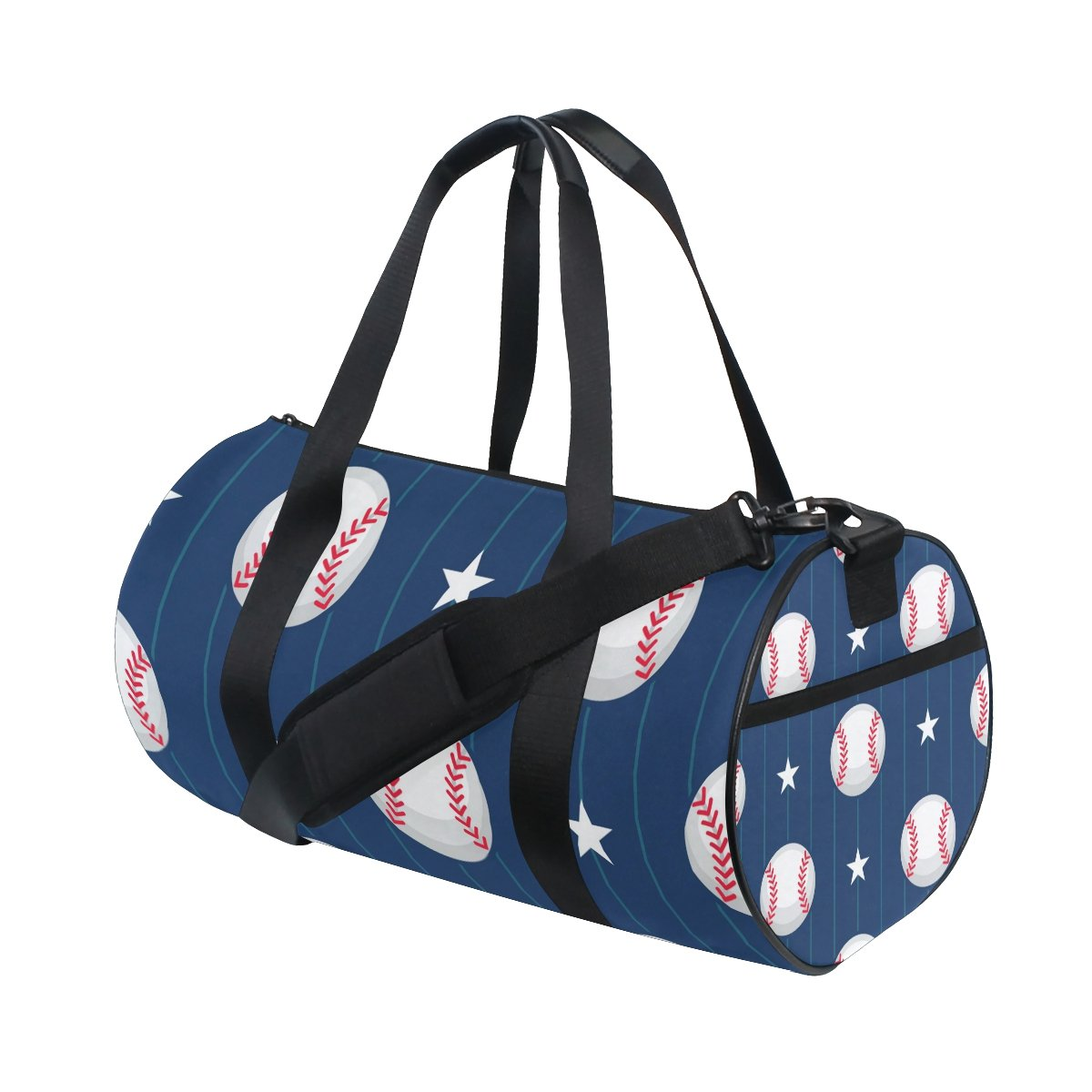 Baseball_Pattern3 Travel Duffle Bag Sports Luggage with Backpack Tote Gym Bag for Man and Women