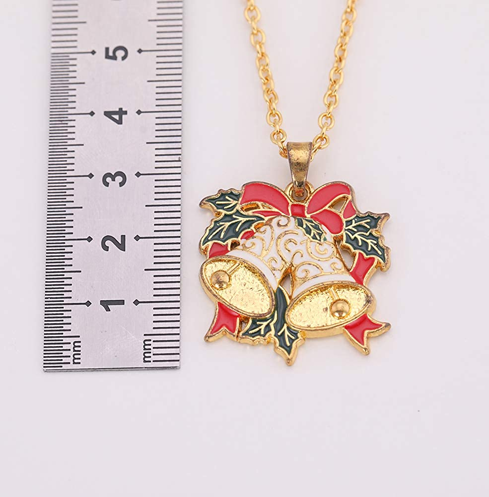 cooltime Jingle Bell Tinkerbell Pendant Necklace Christmas Tree Ornaments