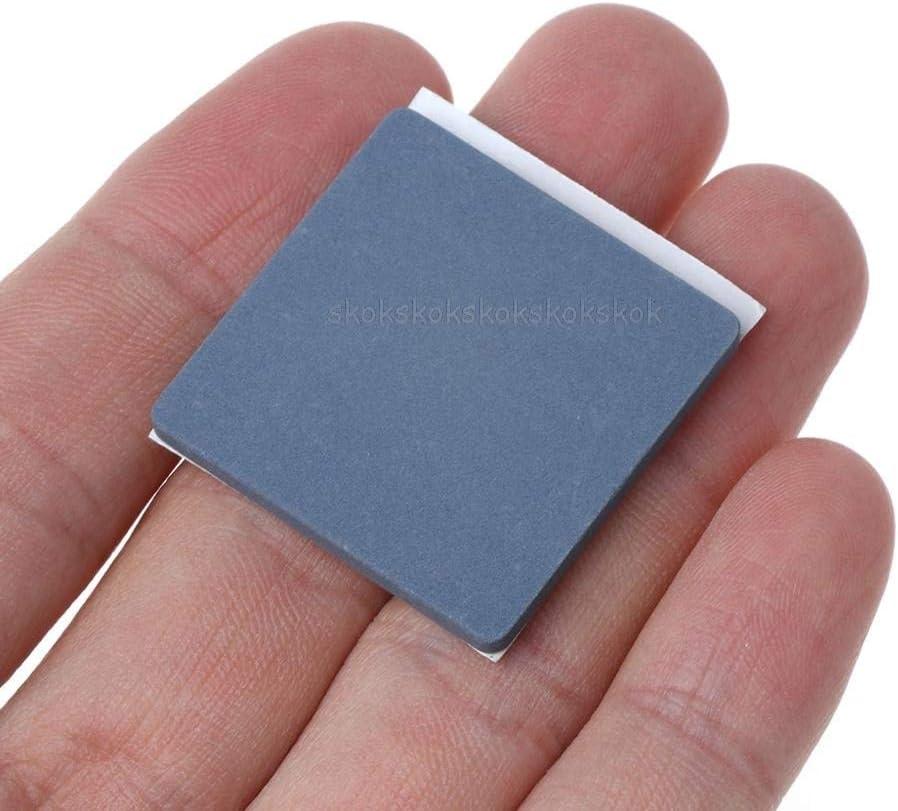 JohnnyBui 5PCS 30x30x3MM Flat Ceramic Heat Sink Anti-static Heatsink Cooler Radiator CPU Cooling IC LED High Conductive Dissipador Je25 19