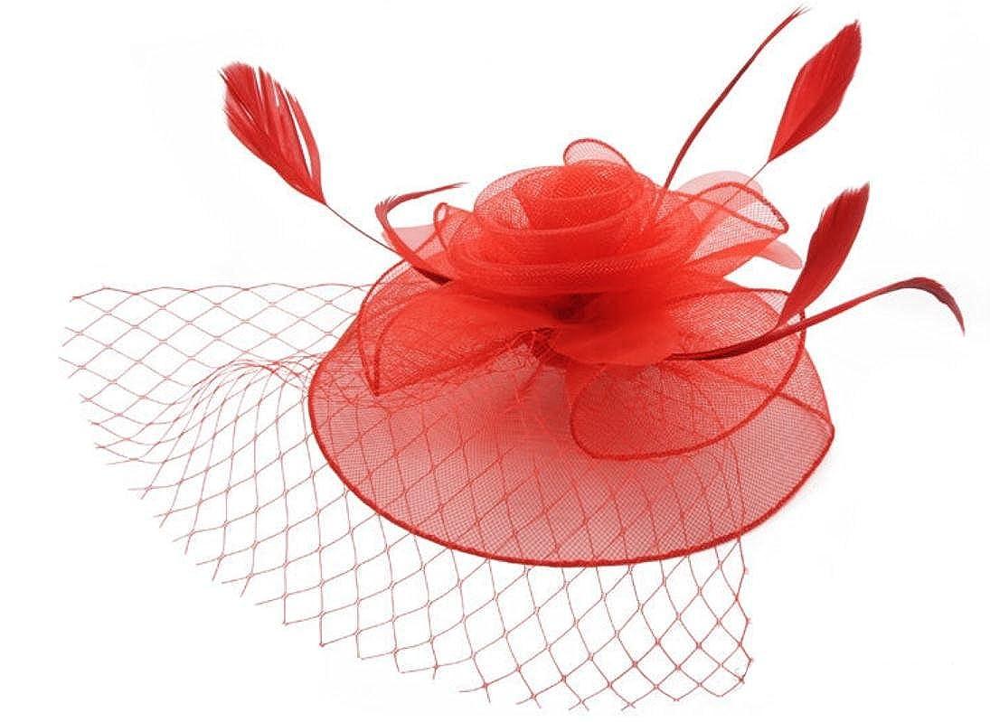 Brawdress Damen Fascinator Elastische Mesh Kopfschmuck Veiling Cocktail-Hut für Party / Hochzeit