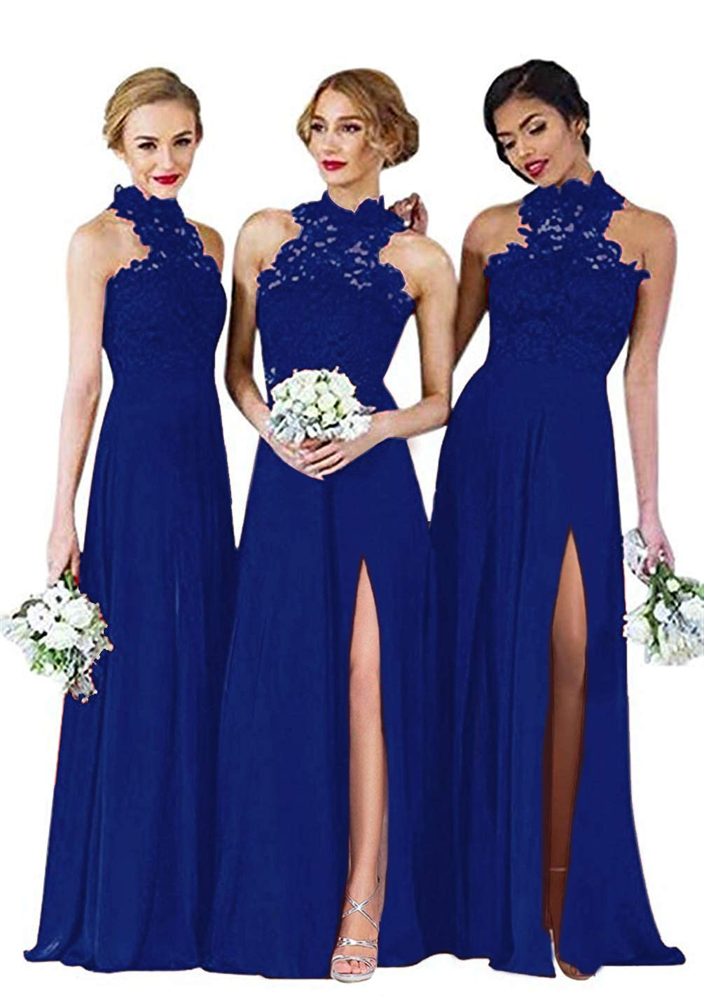 Lace Sheer Back Bridesmaid Dresses