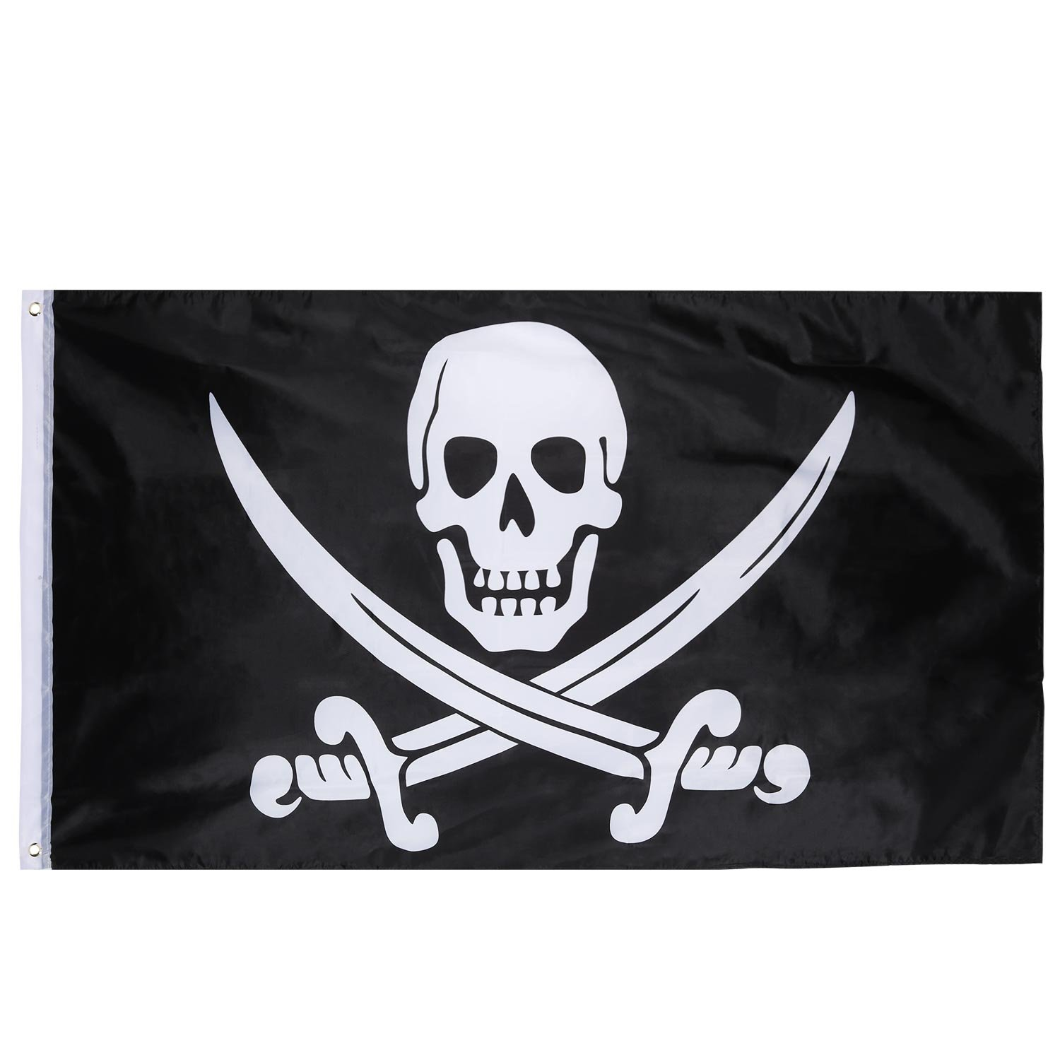 Pirate Party Decoration 5ft With Metal Eyelets 5ft x 3ft Ghost Skull Flag