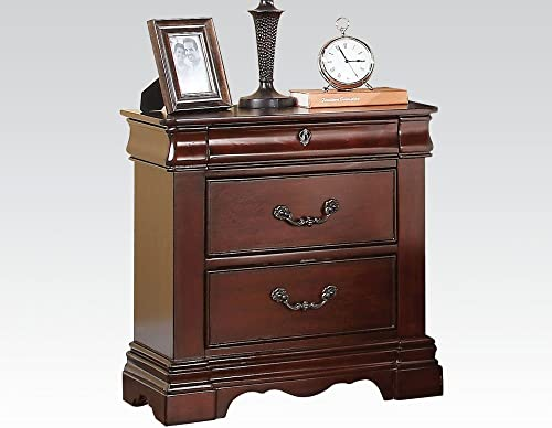 Acme Furniture 20733 Estrella Nightstand, Dark Cherry, One Size