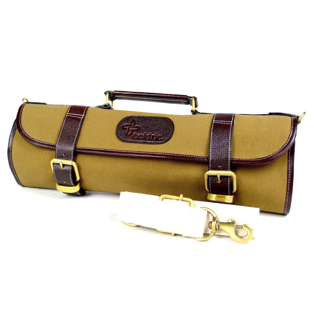 Boldric 9 pocket Canvas Roll Knife Bag Kahki