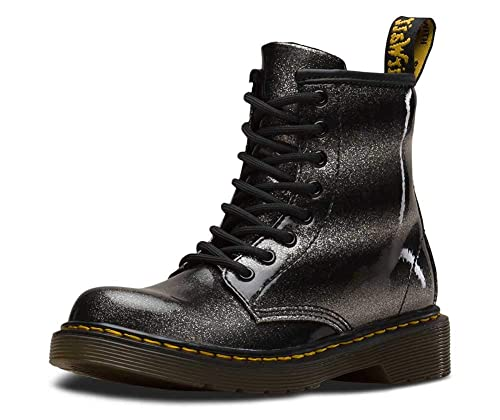 huge inventory detailed pictures stable quality Dr. Martens Girls' 1460 Glitter Patent J Ankle Boots