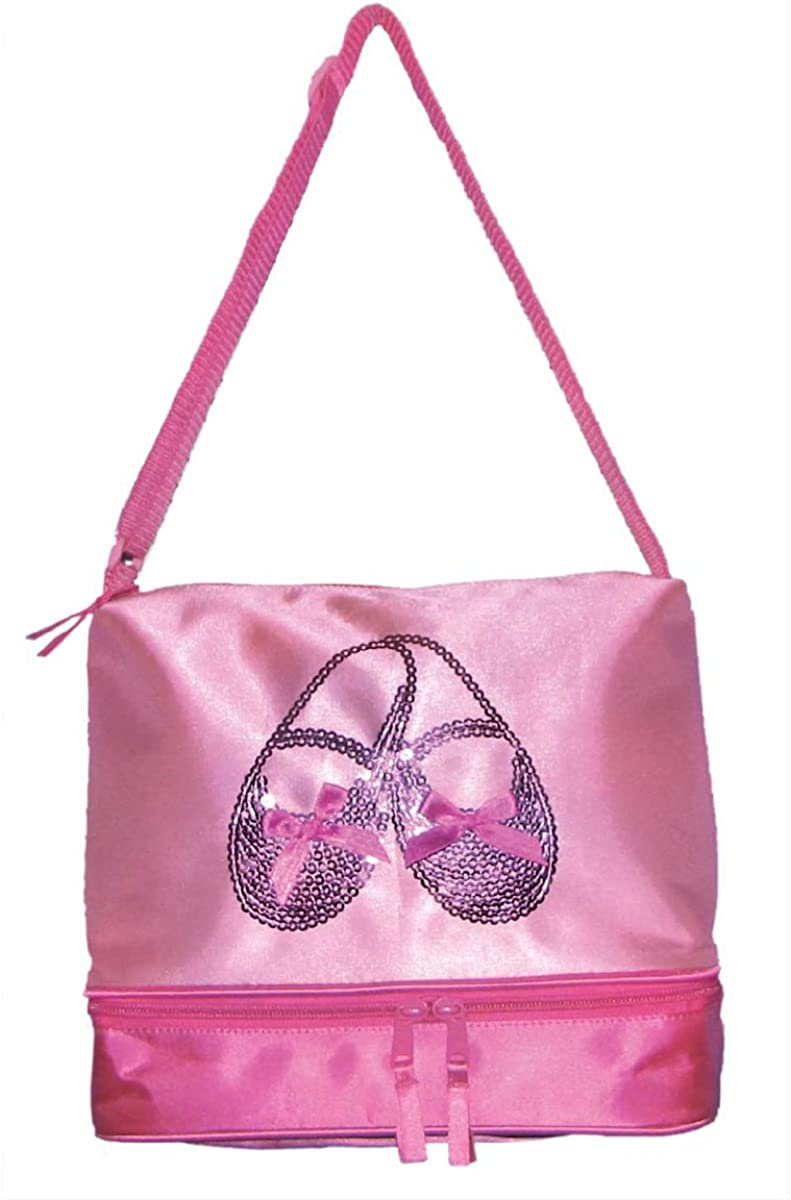LUNCH BAG Fabric Girl Child Dance Pink Purple Bow BALLET DANCER SHOE TOTE