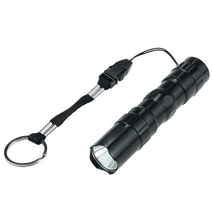 Mini Waterproof LED Flashlight Adjustable Focus Zoomable Pocket Light Lamp Torch