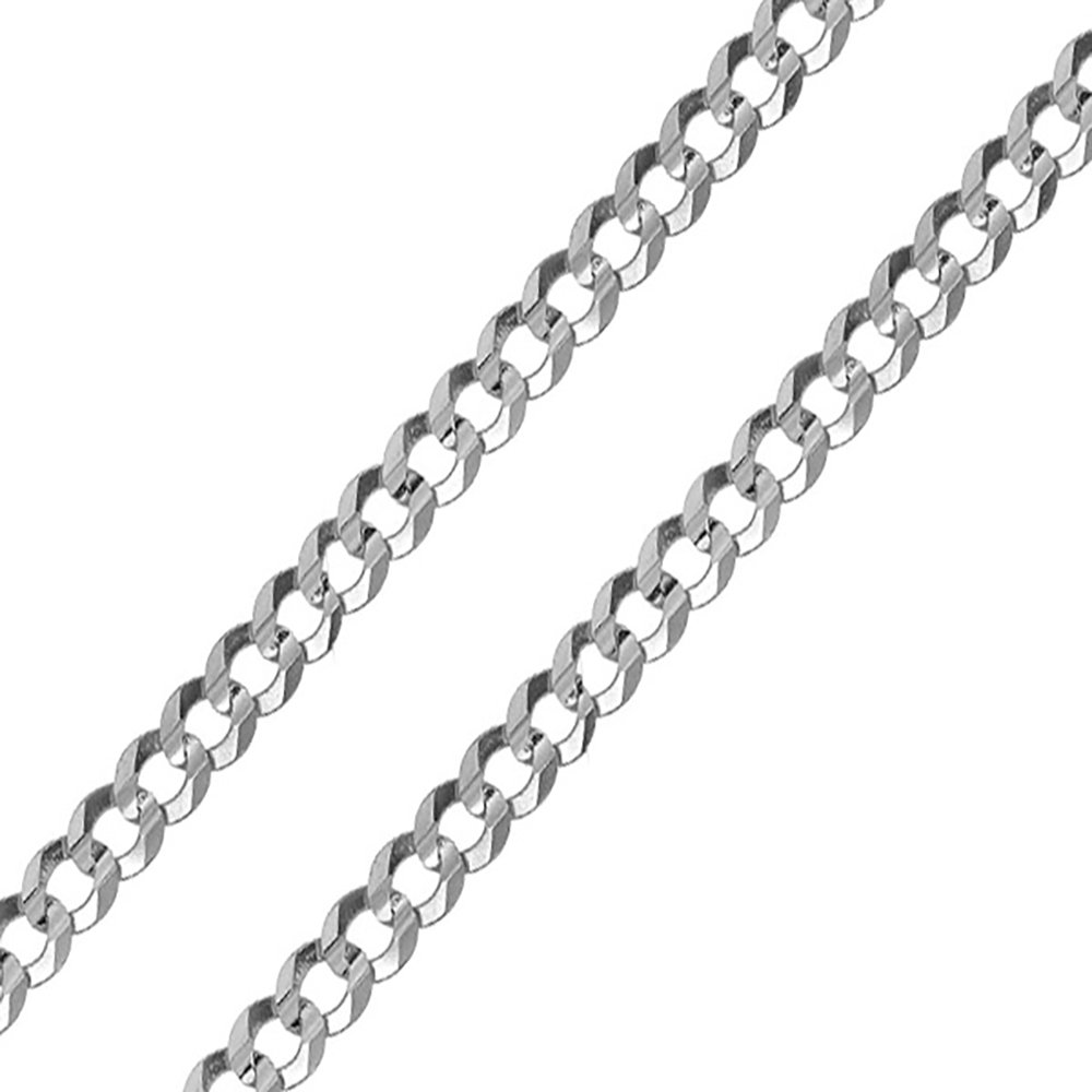 NYC Sterling Men's 9MM Solid Sterling Silver .925 Curb Link Chain Necklace, Made in Italy. (26 Inch) by NYC Sterling (Image #1)
