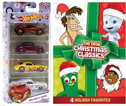 Cartoon Christmas DVD & Holiday Hot Wheels Gumby Seasons Greetings / Casper / Fat Albert Christmas Special / George of the Jungle Jungle Bells Holiday Cartoon Classics