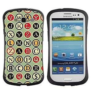 """Pulsar iFace Series Tpu silicona Carcasa Funda Case para SAMSUNG Galaxy S3 III / i9300 / i747 , Metro Máquina de escribir Patrón Escritor"""""""
