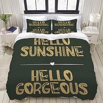 3D Forest Sunshine 80 Bed Pillowcases Quilt Duvet Cover Set Single Queen King CA