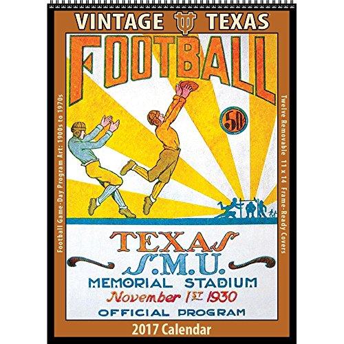 2017 Vintage Texas Longhorns Football Calendar (Asgard Press compare prices)