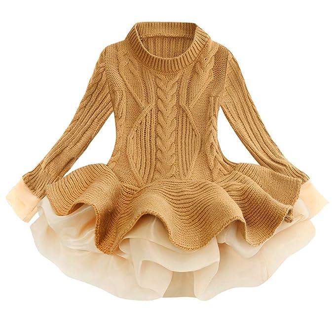 Amazon.com: Vestido de Navidad para niña, diseño de reno con ...