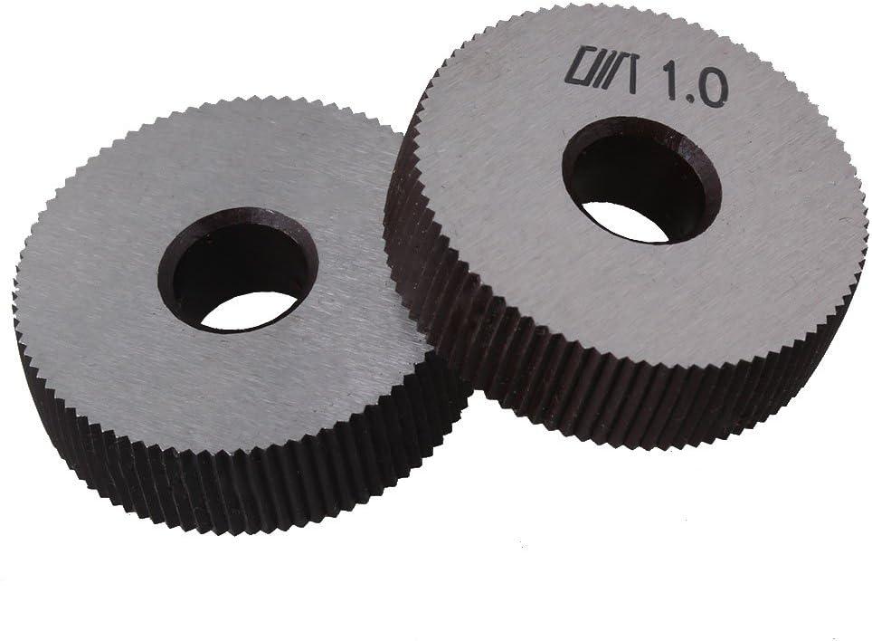 Simple 28/mm Diam/ètre roues 0,8/mm pitch lin/éaire Coque moletage Outil